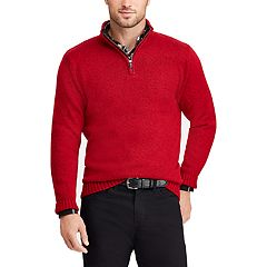 Big & Tall Chaps Classic-Fit Quarter-Zip Mockneck Sweater