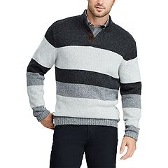 Big & Tall Chaps Classic-Fit Striped Mockneck Sweater