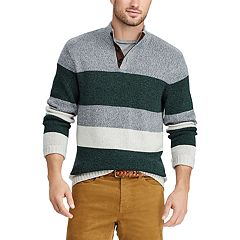 3f881e53f1 Big   Tall Chaps Classic-Fit Striped Mockneck Sweater