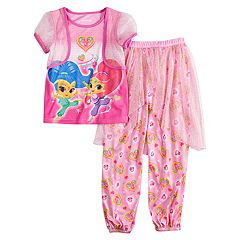 Girls 4-8 Shimmer & Shine Top & Bottoms Genie Pajama Set