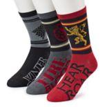 Men's Game of Thrones 3-Pack Crew Socks