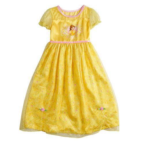 Disney's Belle Girls 4-8 Fantasy Gown Nightgown