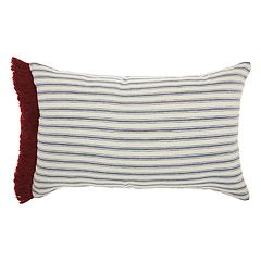 Mina Victory Life Styles Stripes & Fringe Oblong Throw Pillow