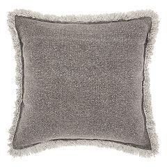 Mina Victory Life Styles Stonewash Fringe Throw Pillow
