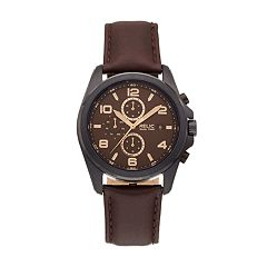 Relic Men's Daley Leather Dual Time Watch - ZR15946