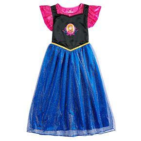 Disney's Frozen Anna Girls 4-8 Fantasy Gown Nightgown