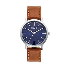 3fbec55f9f2 Relic Men s Jeffery Leather Watch - ZR77298