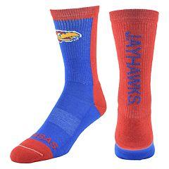 Men's Mojo Kansas Jayhawks Loud & Proud Crew Socks