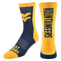 Men's Mojo West Virginia Mountaineers Loud & Proud Crew Socks
