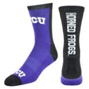 Men's Mojo TCU Horned Frogs Loud & Proud Crew Socks