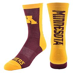 Men's Mojo Minnesota Golden Gophers Loud & Proud Crew Socks