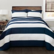 Lush Decor New Berlin Stripe Quilt Set