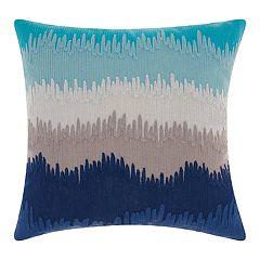 Mina Victory Life Styles Paint Drip Stripes Throw Pillow
