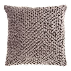 Mina Victory Life Styles Pleated Velvet Throw Pillow