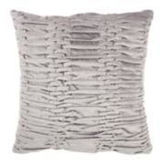 Mina Victory Life Styles Ruched Velvet Throw Pillow