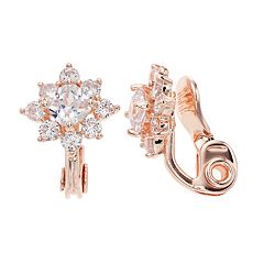 Napier Cubic Zirconia Star Clip-On Earrings