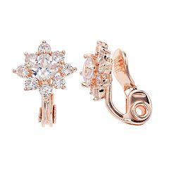 Napier Cubic Zirconia Star Clip-On Earrings