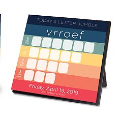 Word Jumble 2019 Desk Calendar