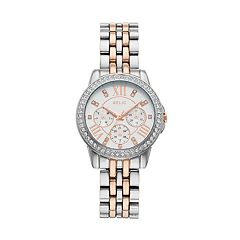 Relic Women's Layla Crystal Two-Tone Dress Watch - ZR15940