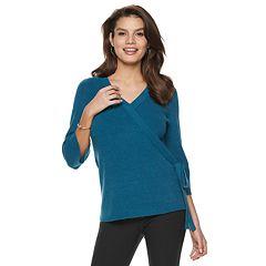 Women's Apt. 9® Faux-Wrap V-Neck Sweater