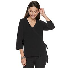Women's Apt. 9® Faux-Wrap V-Neck Sweater