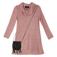 Girls 7-16 IZ Amy Byer Long Sleeve A-Line Dress with Purse