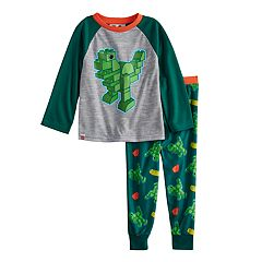 Toddler Boy Lego Duplo Dinosaur Top & Fleece Bottoms Pajama Set