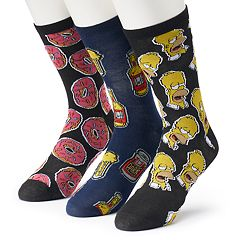 Men's Character 3-Pack Box Set Crew Socks
