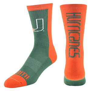 Women's Mojo Miami Hurricanes Loud & Proud Crew Socks
