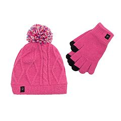 Girls 7-16 Cable-Knit Hat & Tech Touch Gloves Set