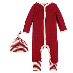 Baby Burt's Bees Baby Organic Thermal Coverall & Hat Set