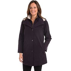Petite Fleet Street Hooded Faux-Silk Stadium Jacket