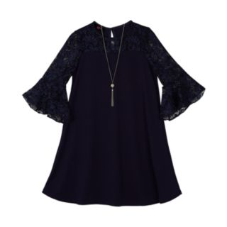 Girls 7-16 IZ Amy Byer Lace Sleeve Dress