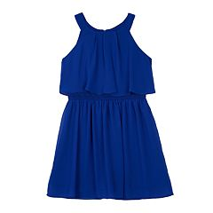 Girls 7-16 IZ Amy Byer Halter Pleated Popover Dress