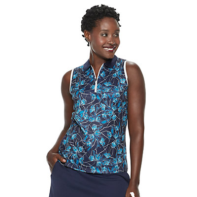 Women's Grand Slam Floral Breeze Print Sleeveless Golf Polo