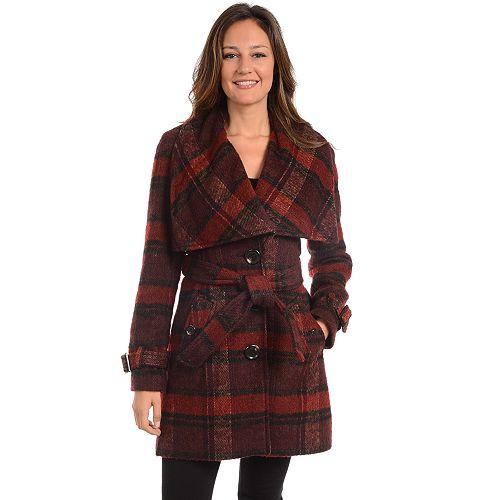 Women's Fleet Street Plaid Wool Blend Coat