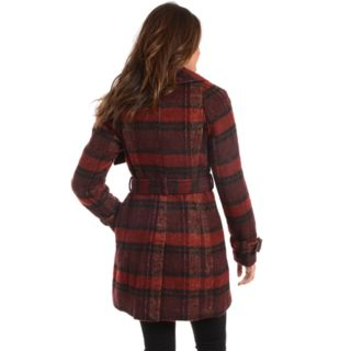 Women's Fleet Street Plaid Wool Blend Coat