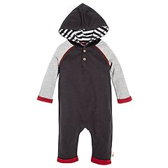 Baby Burt's Bees Baby Organic Hooded Colorblock Coverall