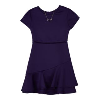 Girls 7-16 IZ Amy Byer Fit & Flare Dress with Necklace