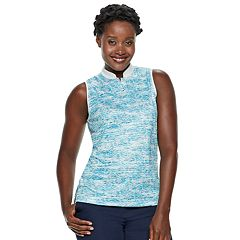 Women's Grand Slam Sleeveless Print Golf Polo