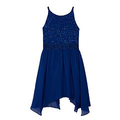 Girls 7-16 IZ Amy Byer Embellished Lace Fit & Flare Dress