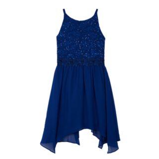 Girls 7-16 IZ Amy Byer Embellished Lace Fit & Flare Dress