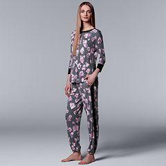 Women's Simply Vera Vera Wang Tee & Jogger Pajama Set