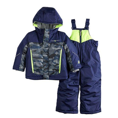 Baby Boy Mini ZeroXposur Camo Heavyweight Hooded Jacket & Bib Snow Pants Set