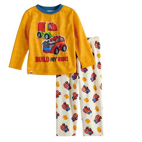 Toddler Boy Lego Duplo Car Top & Fleece Bottoms Pajama Set