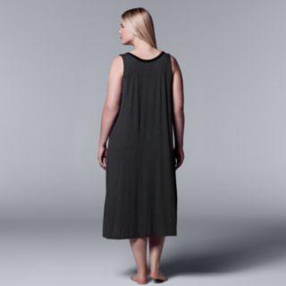 Plus Size Simply Vera Vera Wang Long Chemise
