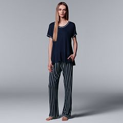 Women's Simply Vera Vera Wang Tee & Pants Pajama Set