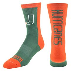 Youth Mojo Miami Hurricanes Loud & Proud Crew Socks