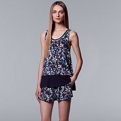 Women's Simply Vera Vera Wang Tank & Shorts Pajama Set