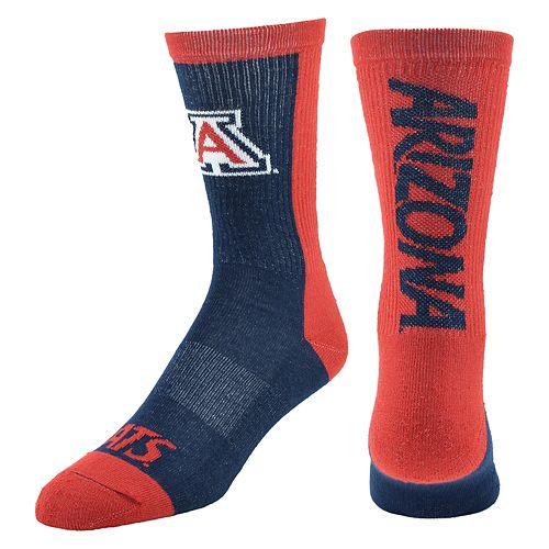 Youth Mojo Arizona Wildcats Loud & Proud Crew Socks